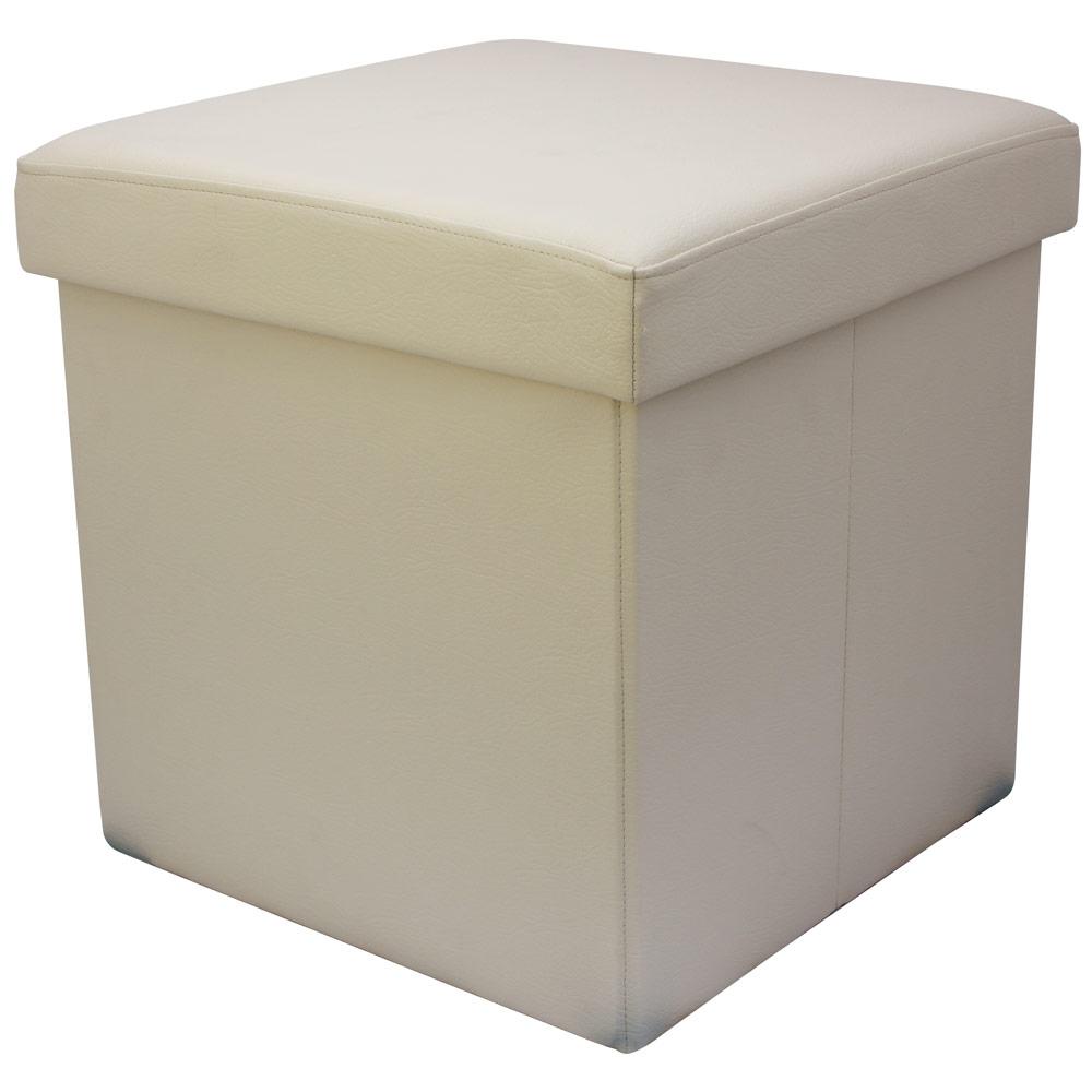 38cm-Folding-Storage-Pouffe-Cube-Foot-Stool-Seat- - 38cm Folding Storage Pouffe Cube Foot Stool Seat Ottoman Toy Box