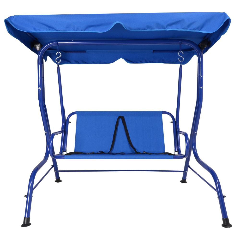 Childrens Kids 2 Seat Blue Summer Garden Swing Hammock ...