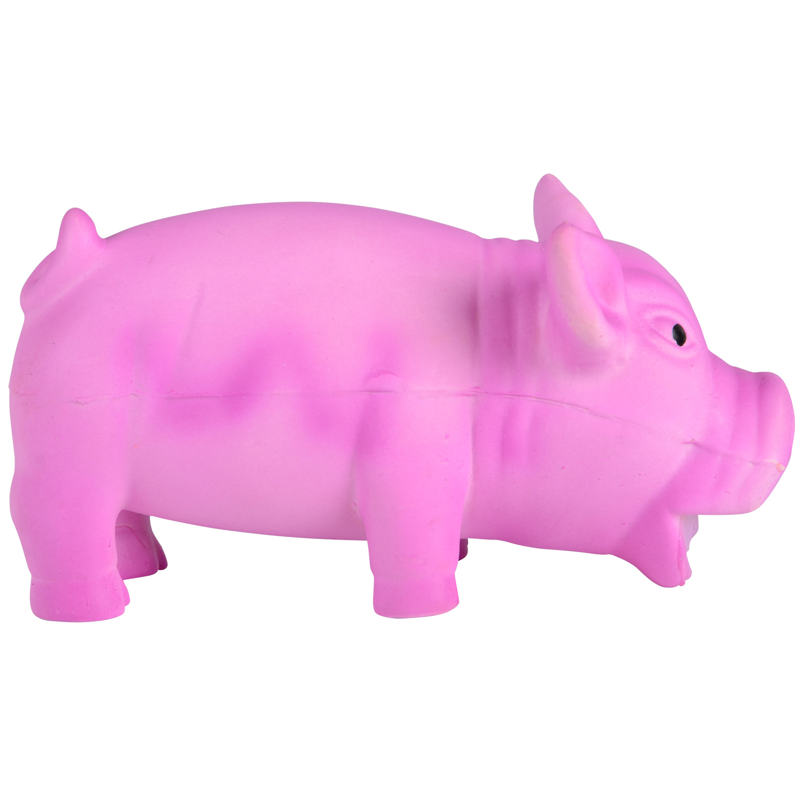 Pink Dog Toy : Puppy dog pet toy latex pink pig with realistic