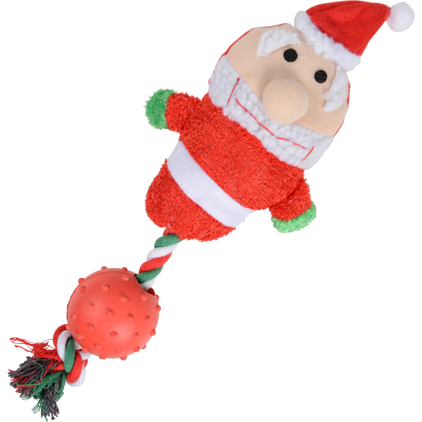 Rubber Ball On A Rope Dog Toy
