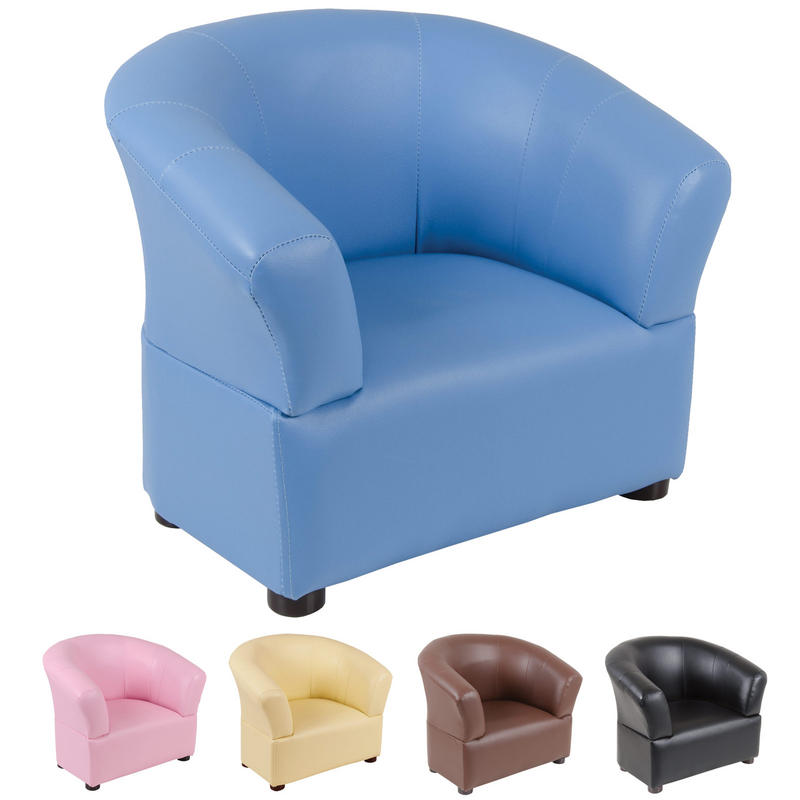 Kids pvc leather look tub chair armchair seat home furniture for Toddler leather chair