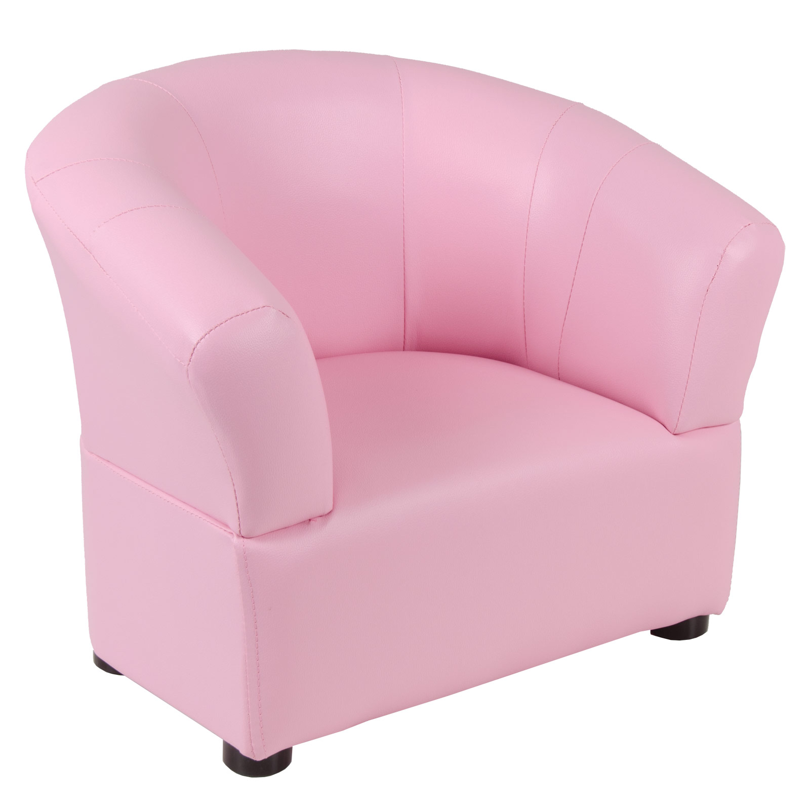 Kids Comfy Pvc Leather Look Tub Chair Armchair Seat