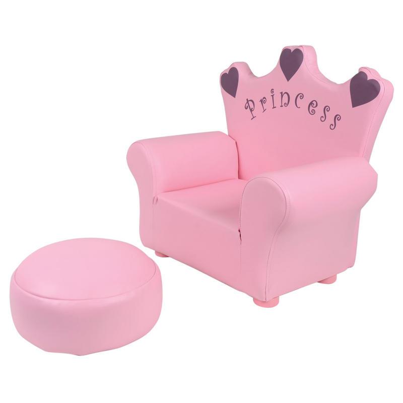 Azuma Kids Pu Leather Look Armchair Seat Amp Footstool
