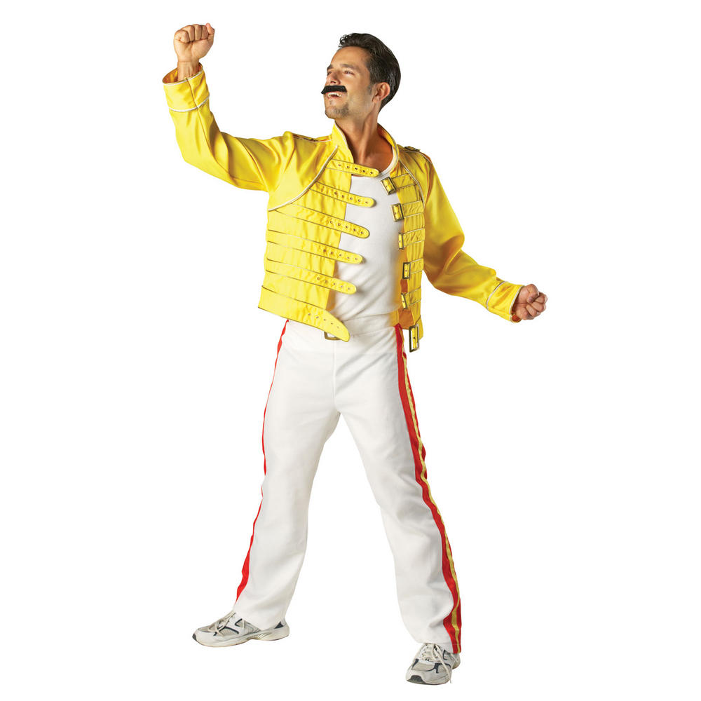 adult freddy mercury halloween fancy dress costume new. Black Bedroom Furniture Sets. Home Design Ideas