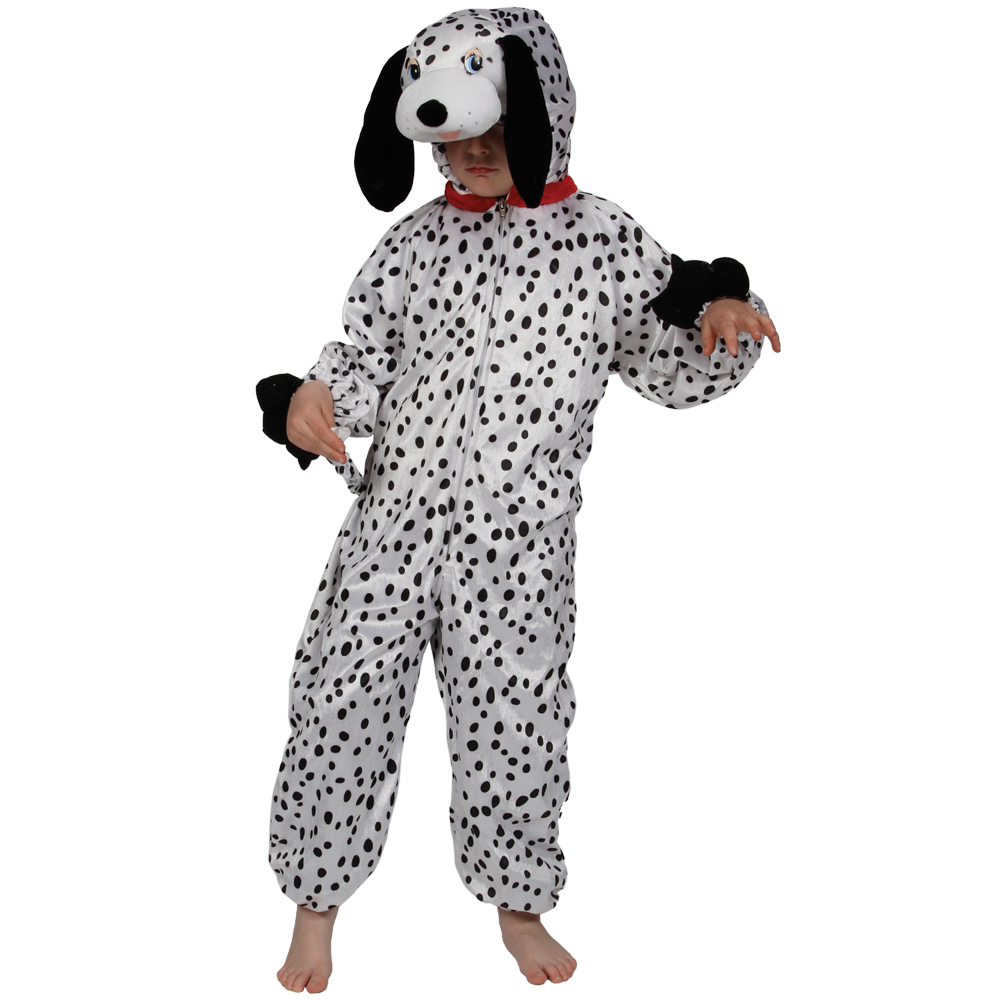 childrens black amp white dalmation puppy dog fancy dress up