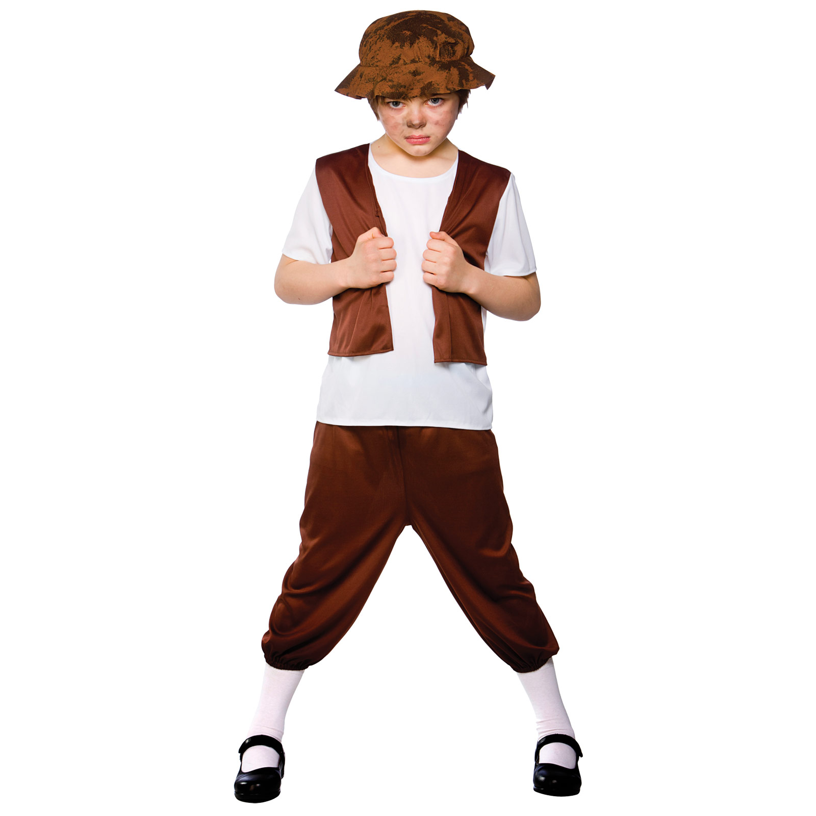 Child-Boys-Tudor-Boy-Costume-Fancy-Dress-Up-Role-Play-Party-Halloween-Poor-Waif
