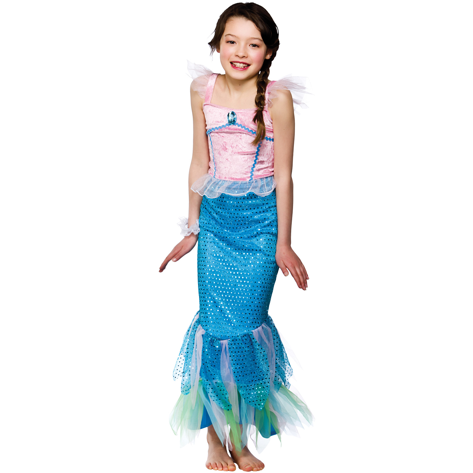 Child-Girls-Mystical-Mermaid-Costume-Fancy-Dress-Up-Role-Play-Party-Halloween