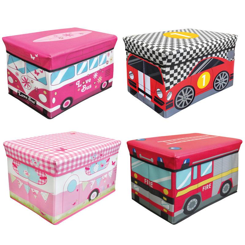 childrens jumbo bedroom room tidy toy storage chest box trunk