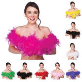 Fluffy 60g Feather Boa 1.7m Fancy Dress Hen Night Halloween Accessory