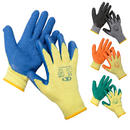 12 Pairs Of Workwear DIY Latex Rubber Coated Work Gloves