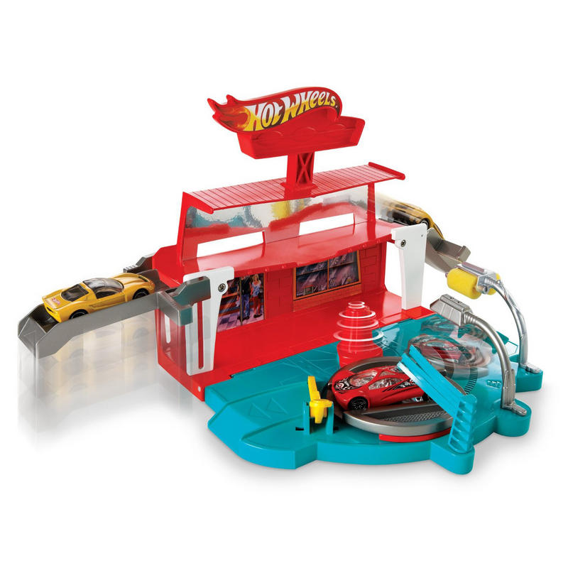 Hot Wheels Super Spin Carwash Play Set With One Vehicle
