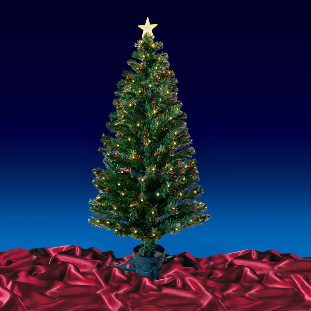 Green-Fibre-Optic-Artificial-Indoor-Christmas-Tree-With-LED-Tips-4ft-5ft-or-6ft