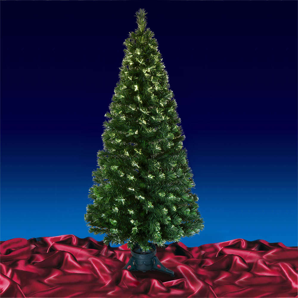 Green Fibre Optic Open Burst Artificial Indoor Christmas Tree 3ft 4ft 5ft or 6ft