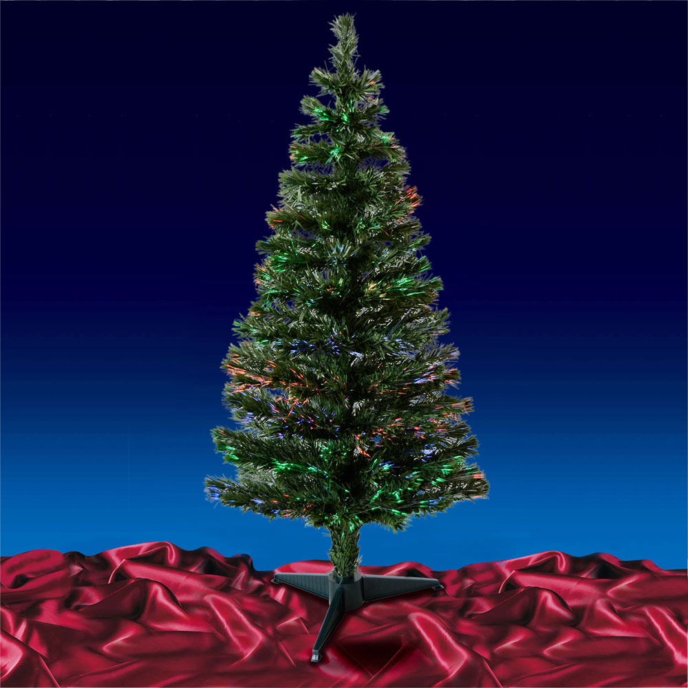 Green/ Black Fibre Optic Artificial Indoor Christmas Tree 2ft 3ft ...