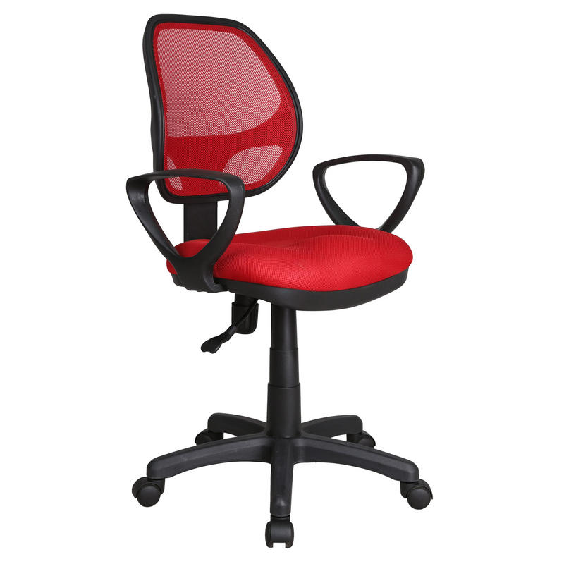 Gas Lift Swivel Computer Desk Office Furniture Chair With Armrests