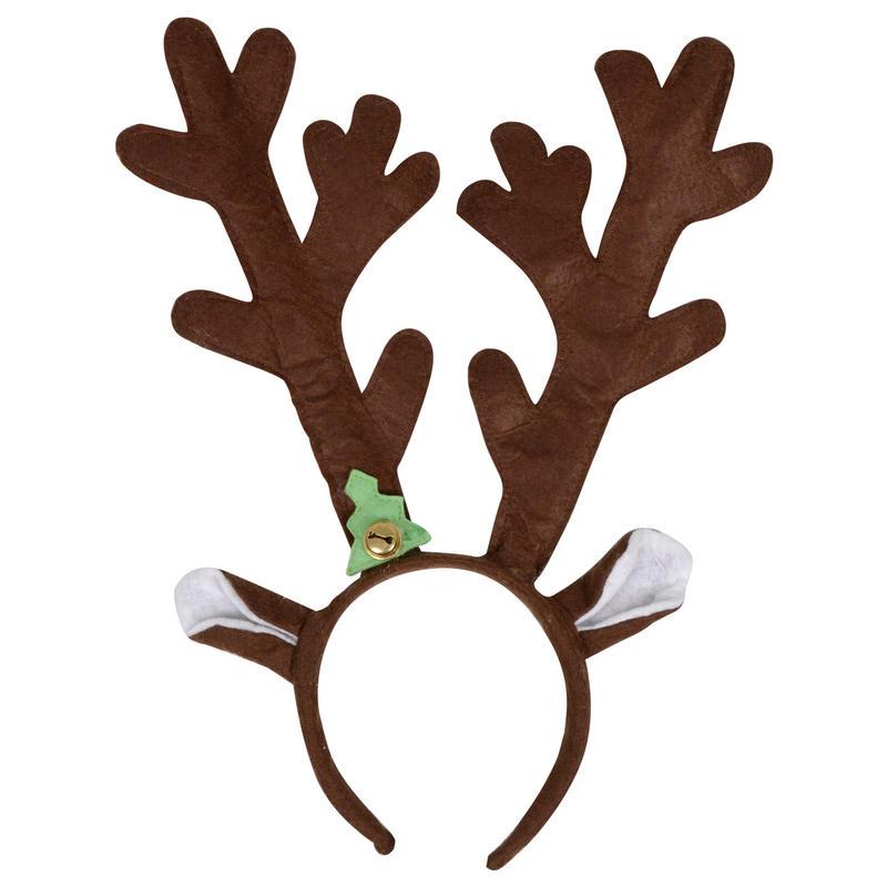 Brown Reindeer Antlers Christmas Xmas Festive Novelty Headband ...