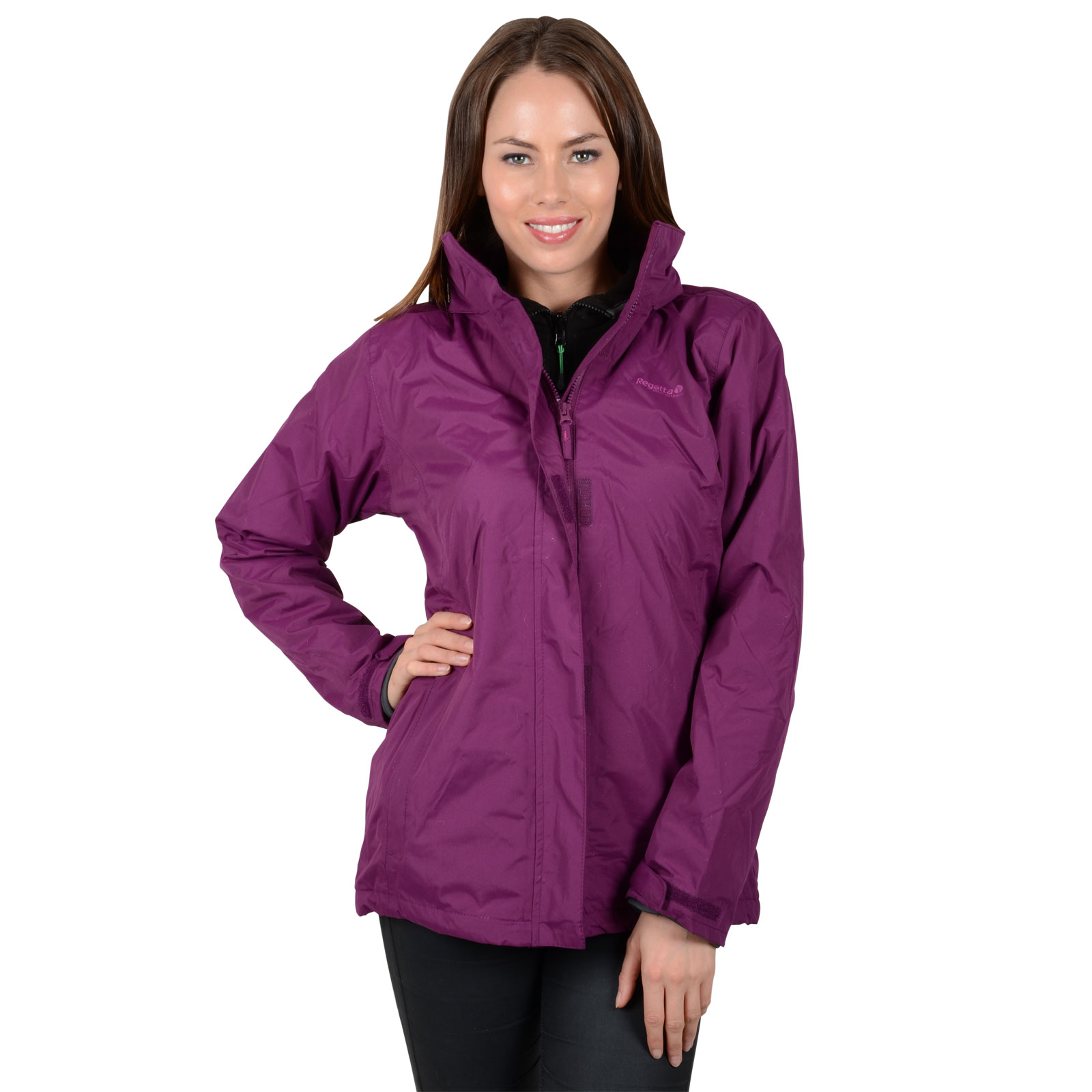 Ladies Regatta Midsummer Waterproof Outdoor Jacket Rain Coat With ...