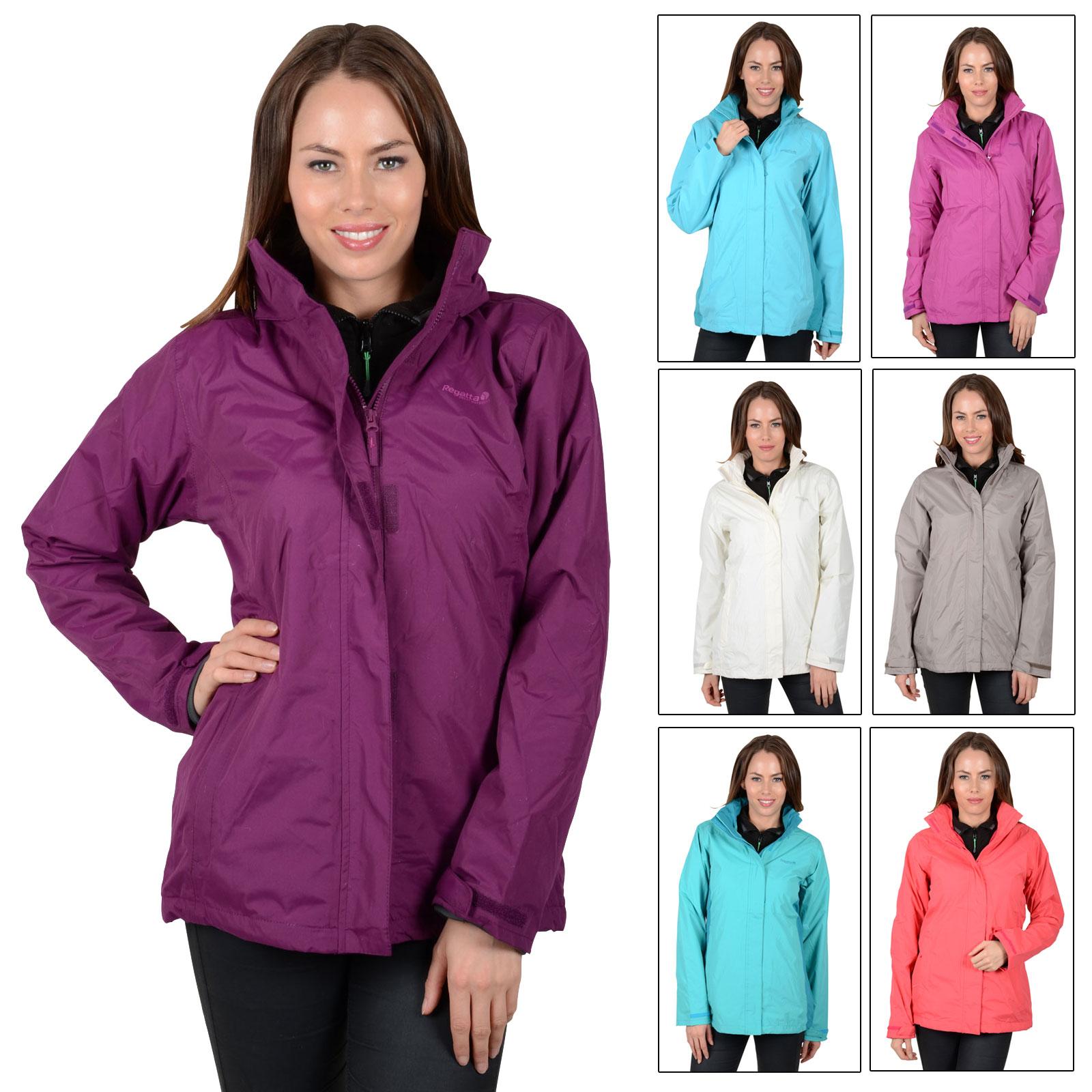 Ladies Regatta Midsummer Waterproof Outdoor Jacket Rain Coat With