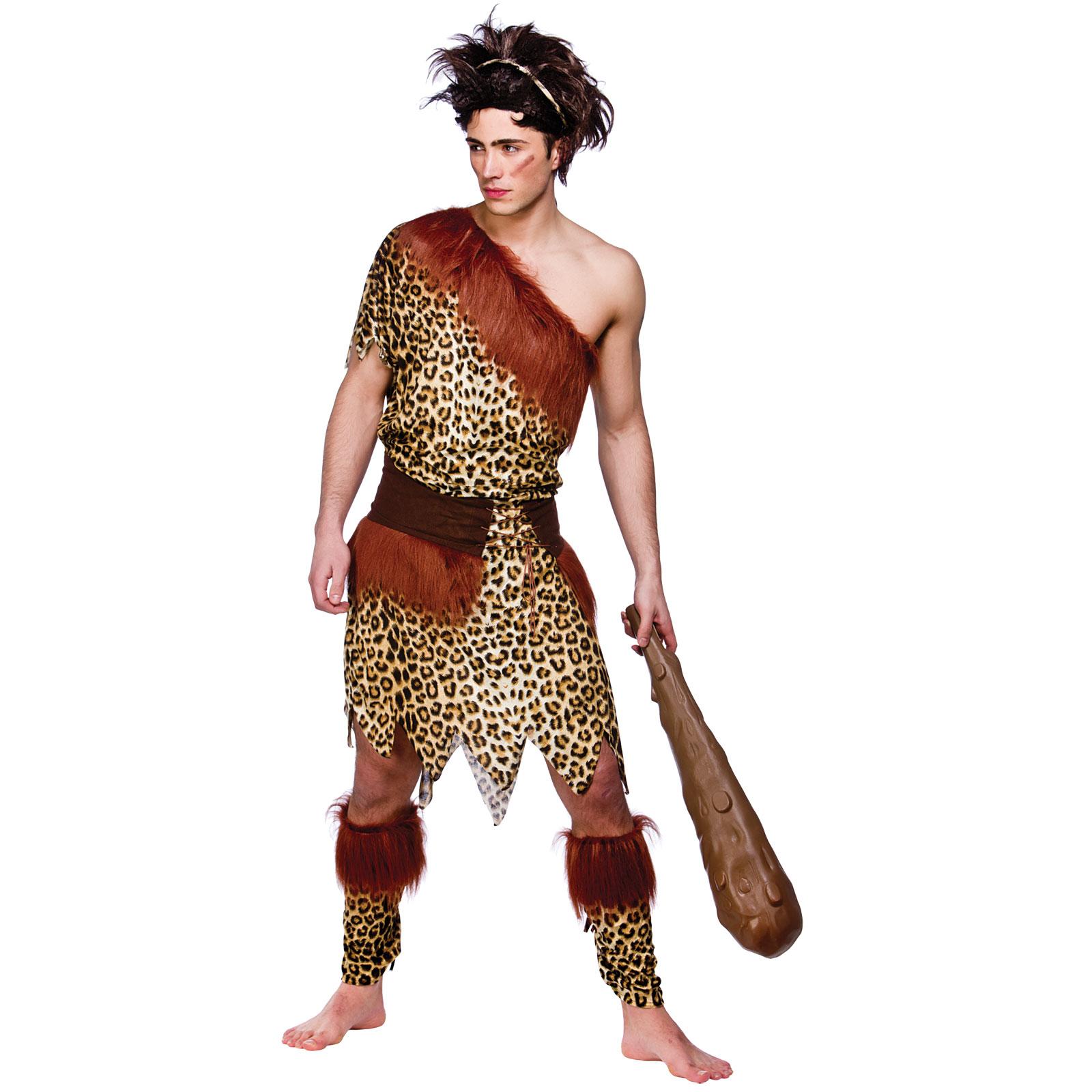 Caveman Style : Stoneage caveman prehistoric jungle tv film fancy dress up