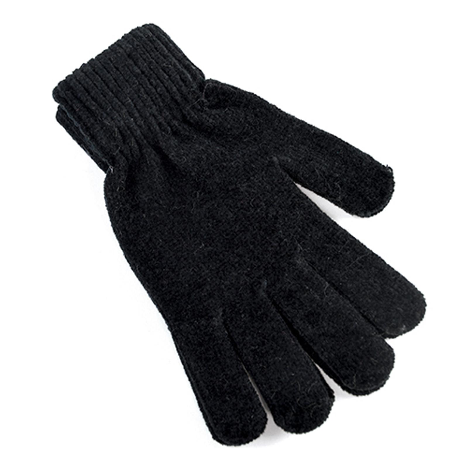 Black gloves white magic - Las Magic Chenille Gloves Warm Winter Accessory Grey Berry Teal