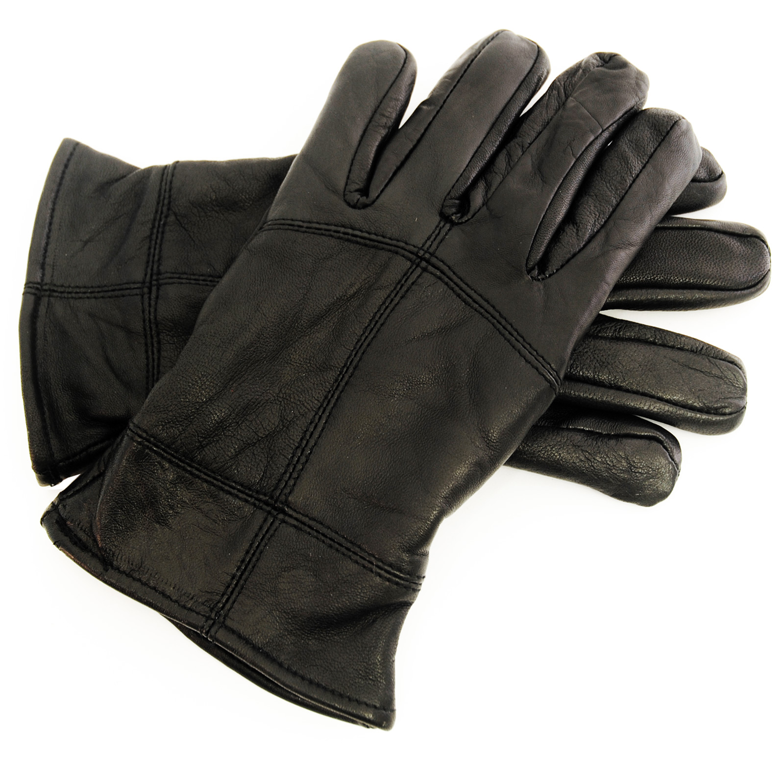 Mens Black Sheepskin Leather Gloves Thinsulate Lining