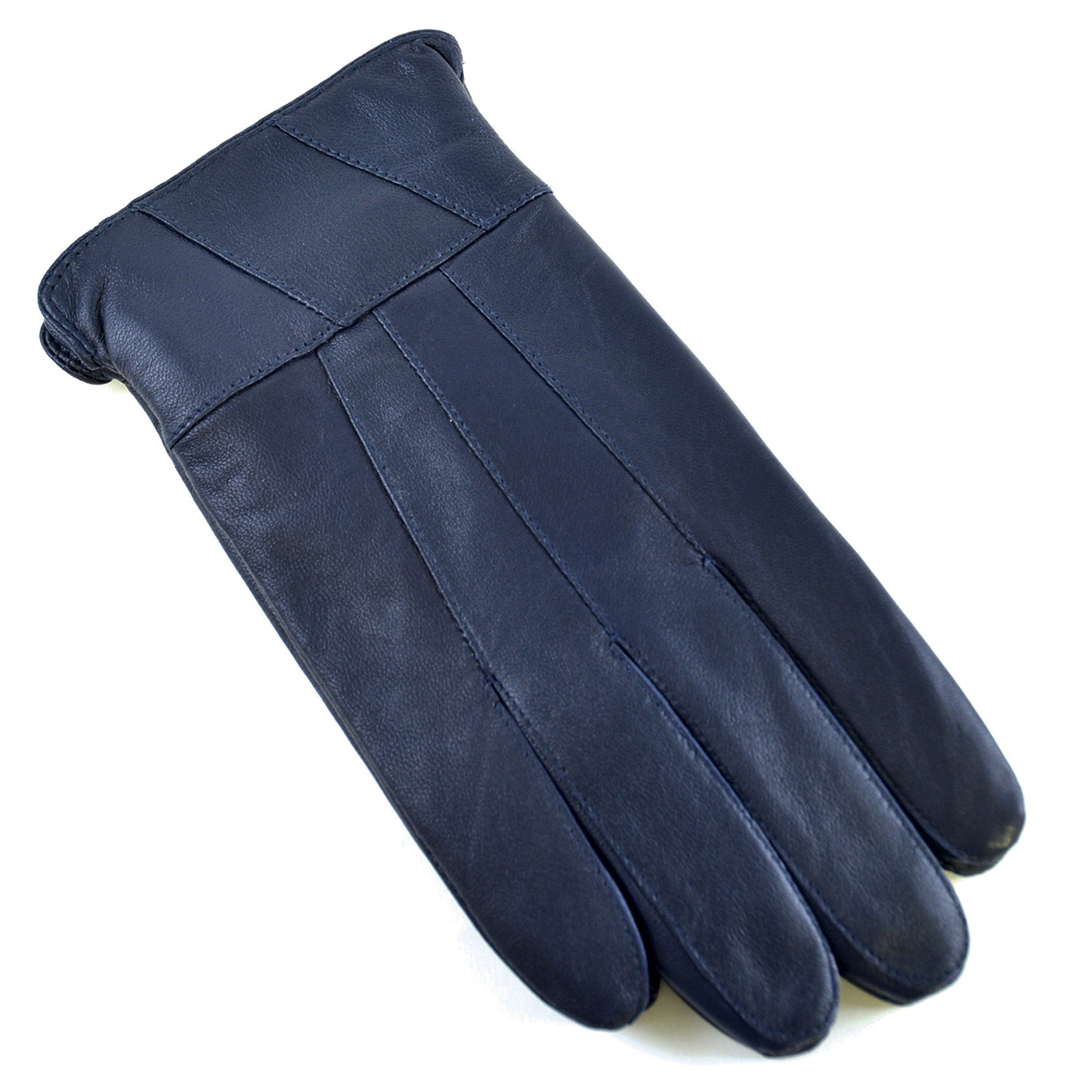 Ladies leather gloves navy blue - Ladies Lined Sheepskin Leather Gloves Winter Rain Outdoor