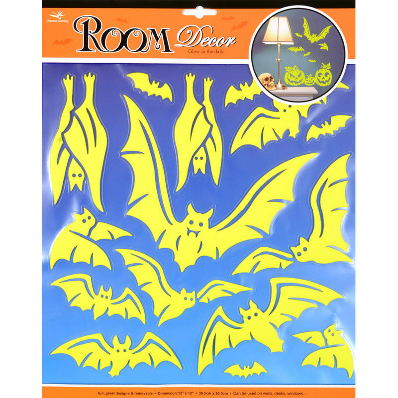 Wholesale job lot 48x wall stickers room decor halloween for Room decor job