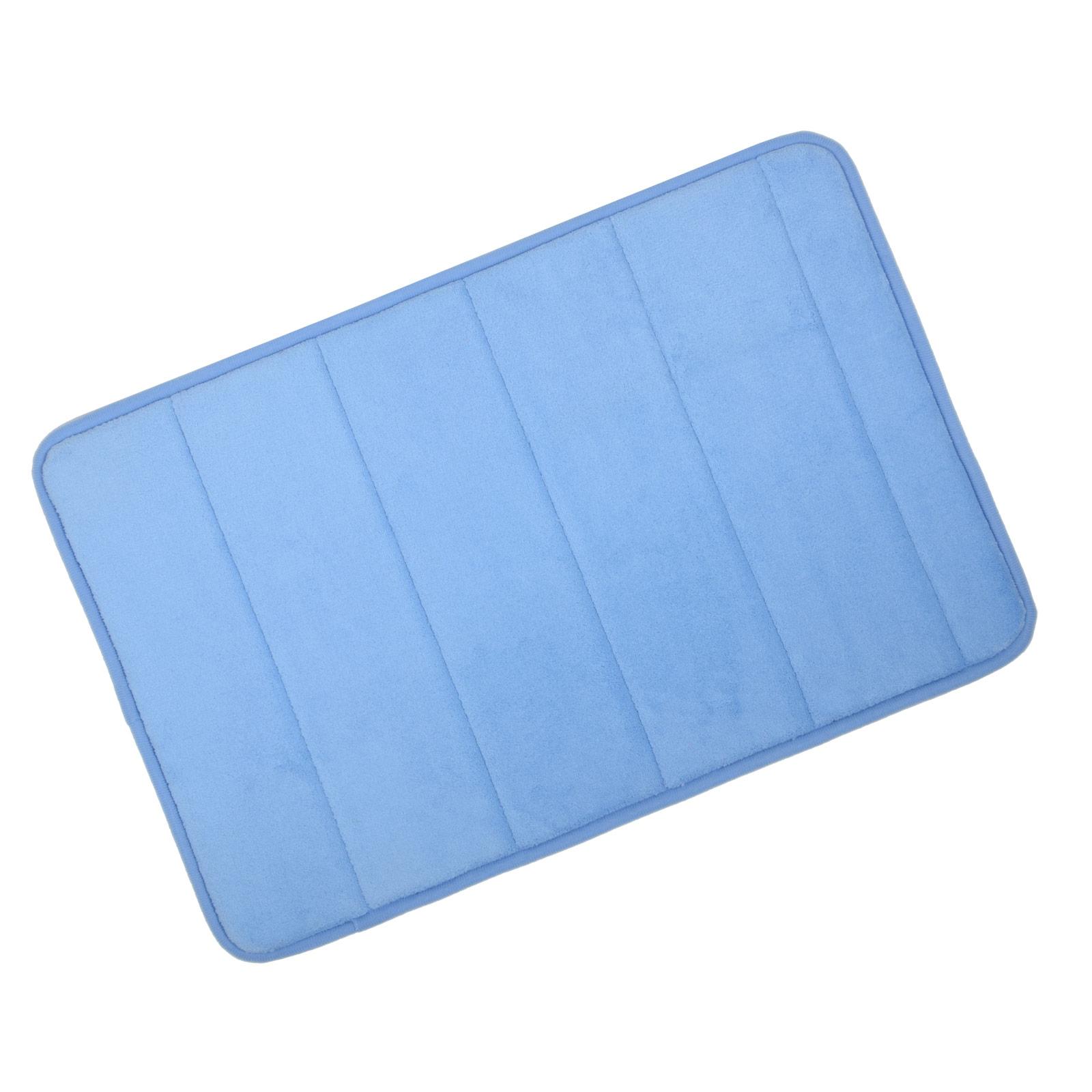 microfibre memory foam bathroom shower bath mat with non slip back 22 colours. Black Bedroom Furniture Sets. Home Design Ideas