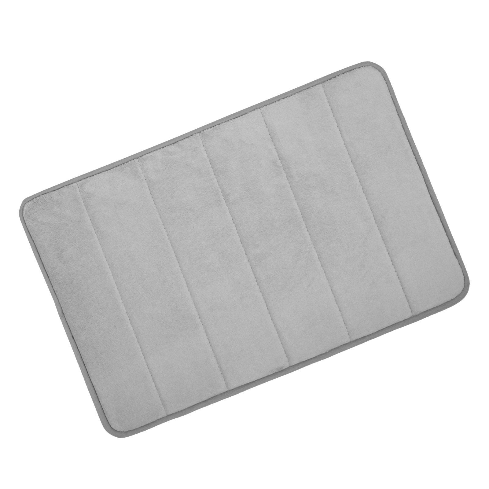 Microfibre Memory Foam Bathroom Shower Bath Mat With Non Slip Back
