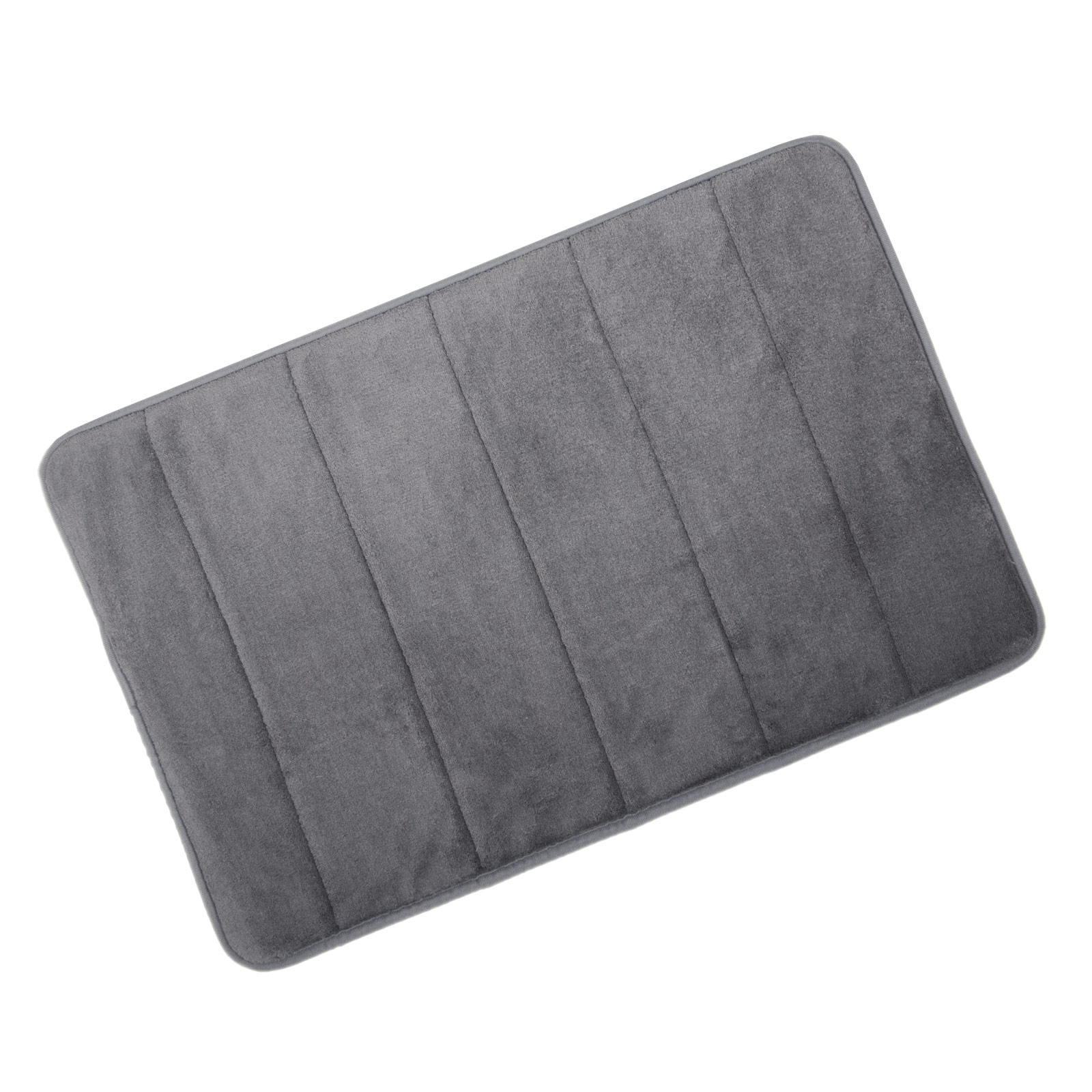 Microfibre Memory Foam Bathroom Shower Bath Mat With Non Slip Back