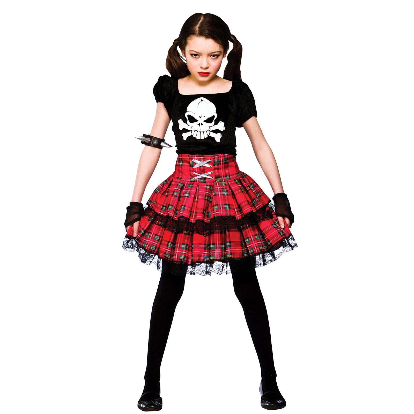 Kids girl freaky punk chick halloween horror scary fancy for Children s halloween costume ideas