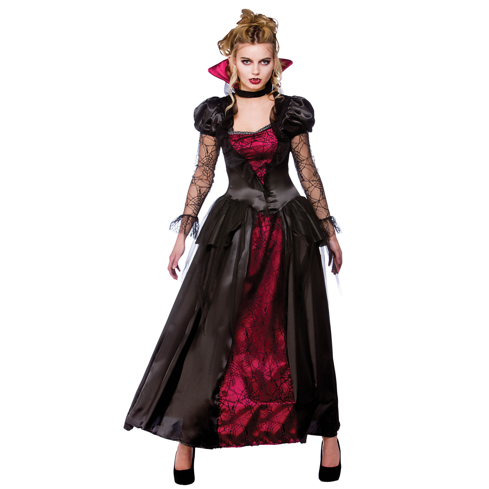 adults vampire queen horror scary halloween fancy dress up costume outfit new. Black Bedroom Furniture Sets. Home Design Ideas