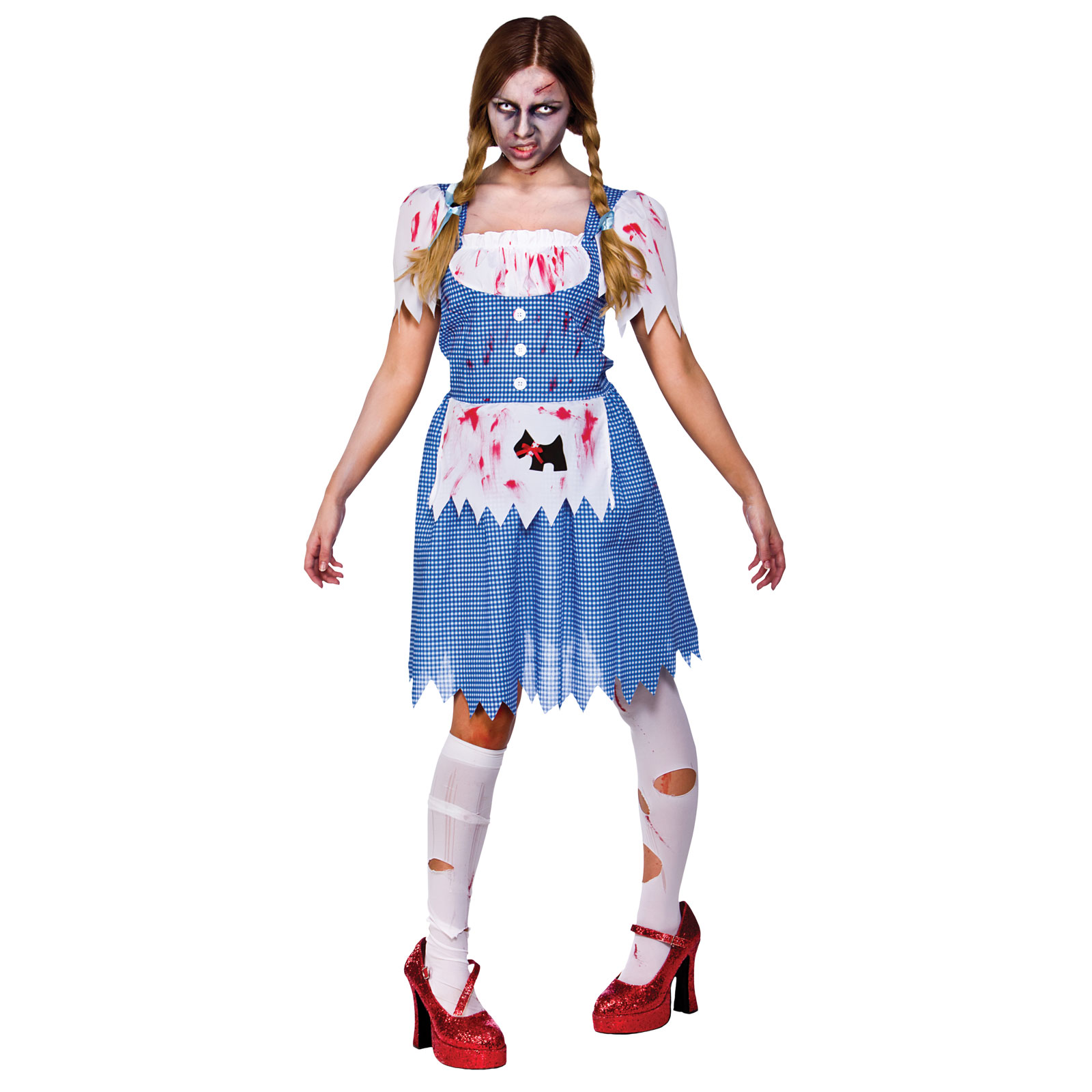 Halloween Girls Princess Fancy Dress Up Costume Outfits: Womans Adults Deceased Dorothy Horror Halloween Fancy
