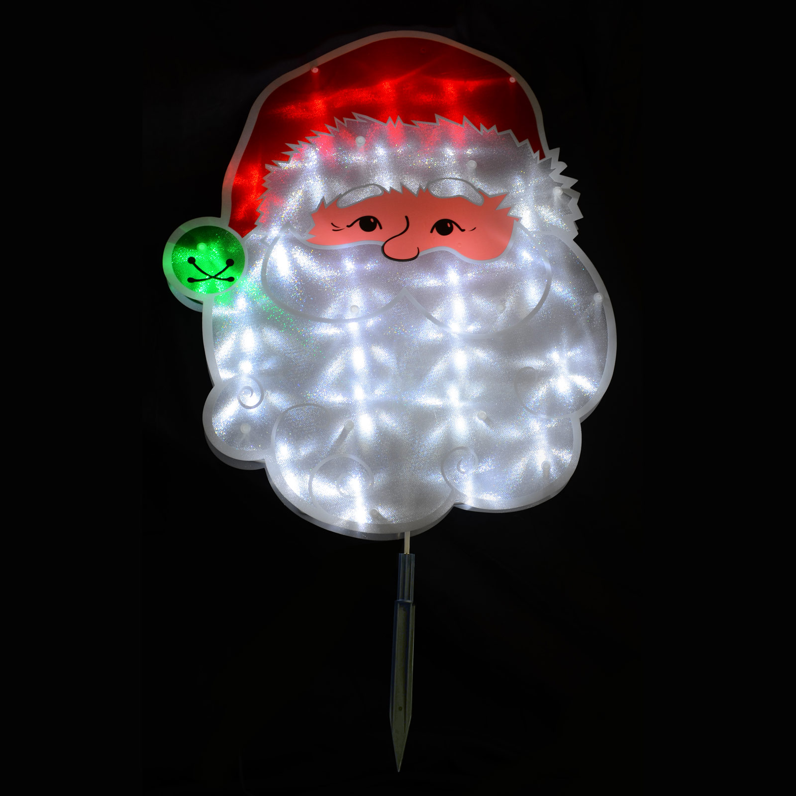 38 x 45cm pvc santa face garden stake plaque christmas outdoor decoration new ebay. Black Bedroom Furniture Sets. Home Design Ideas