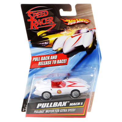 Hot Wheels Speed Racer Pullbax Mach 5 White Racing Car M5940 For Age 3+