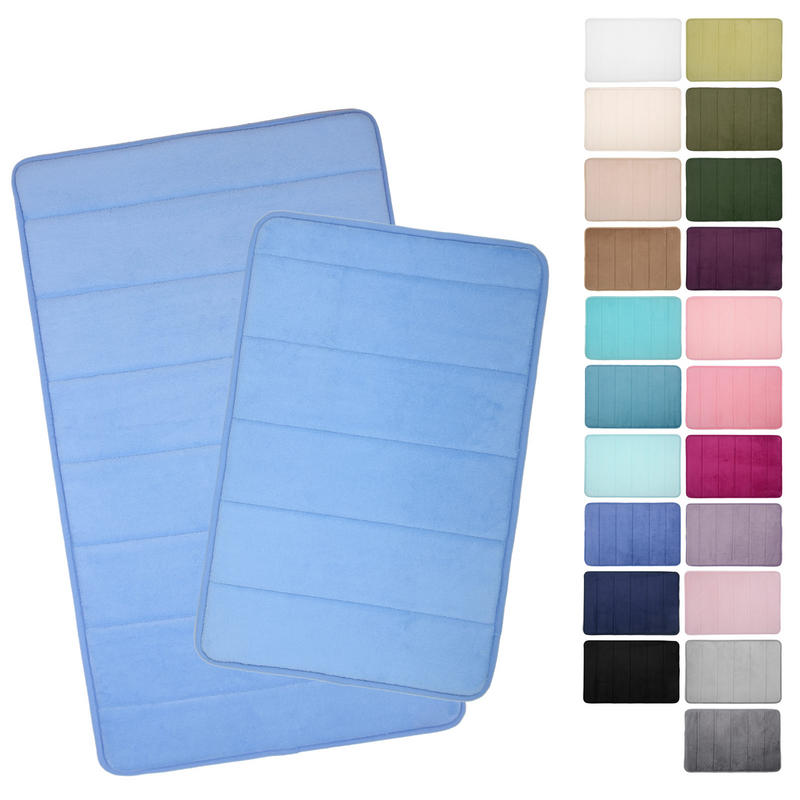 Microfibre Memory Foam Bathroom Bath Mat 22 Colours