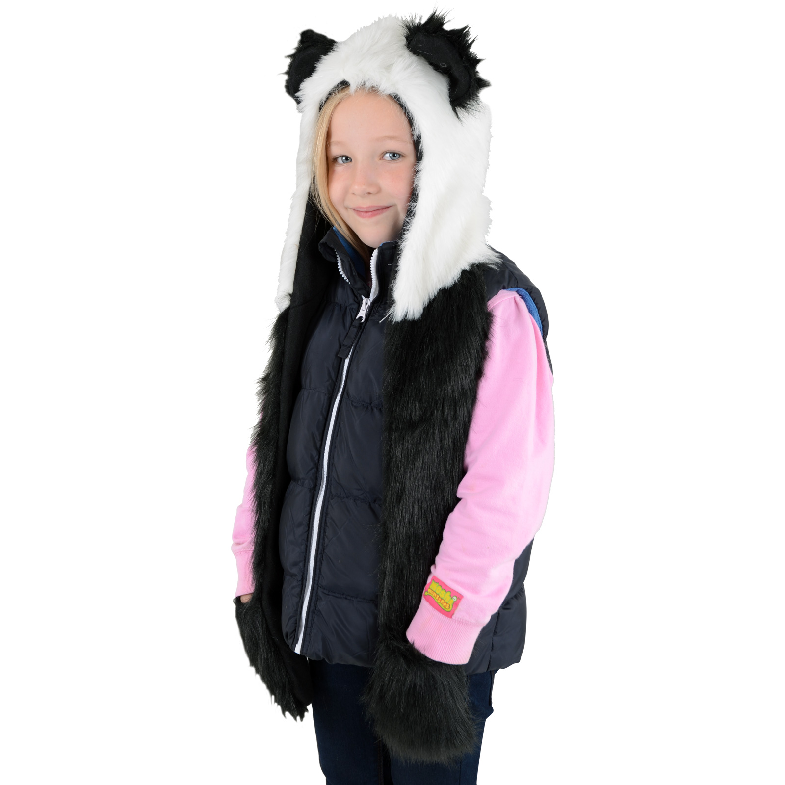 boys childrens animal hats and scarves tiger