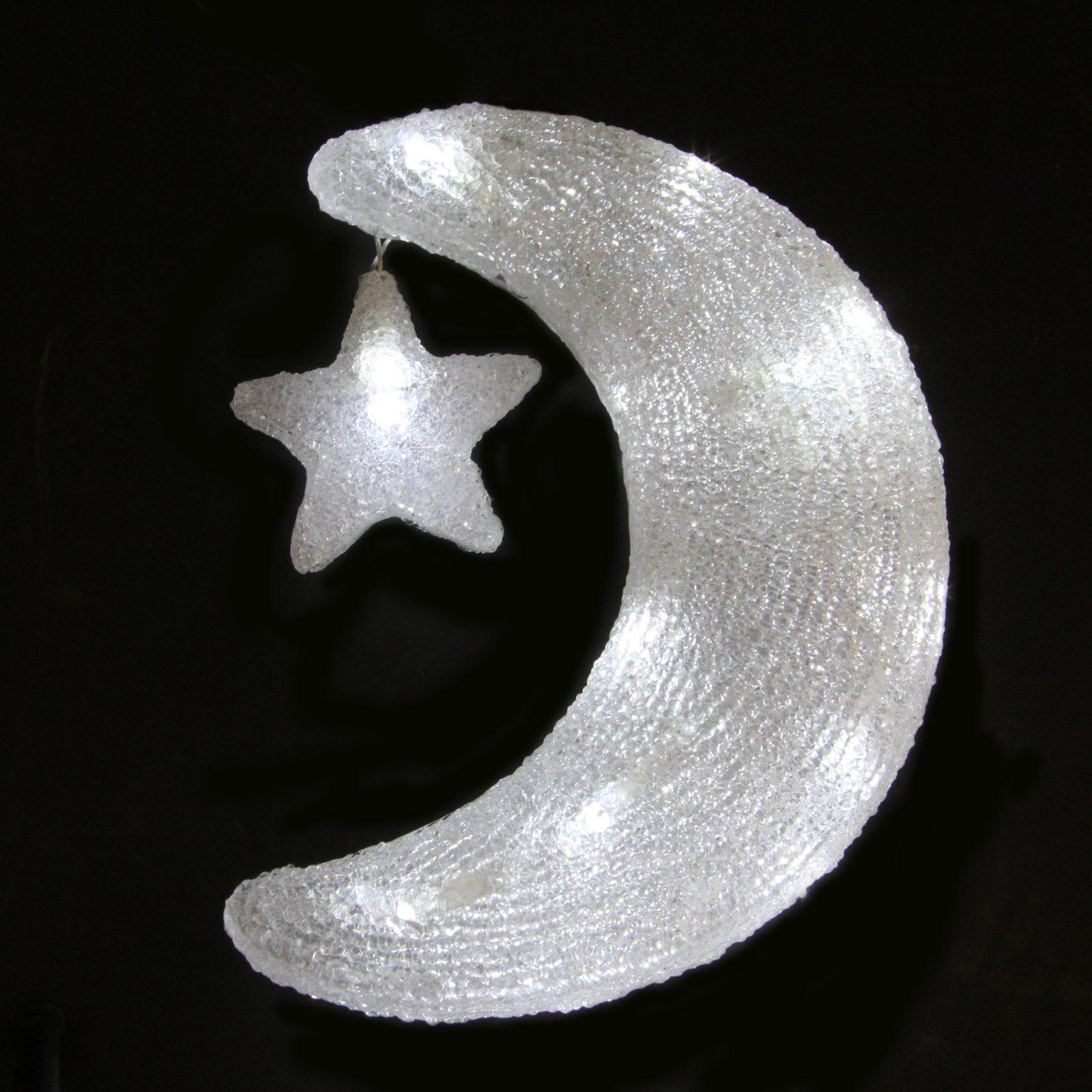 31 White LED Moon Star Lights Christmas Decoration Christmas Light Decoration