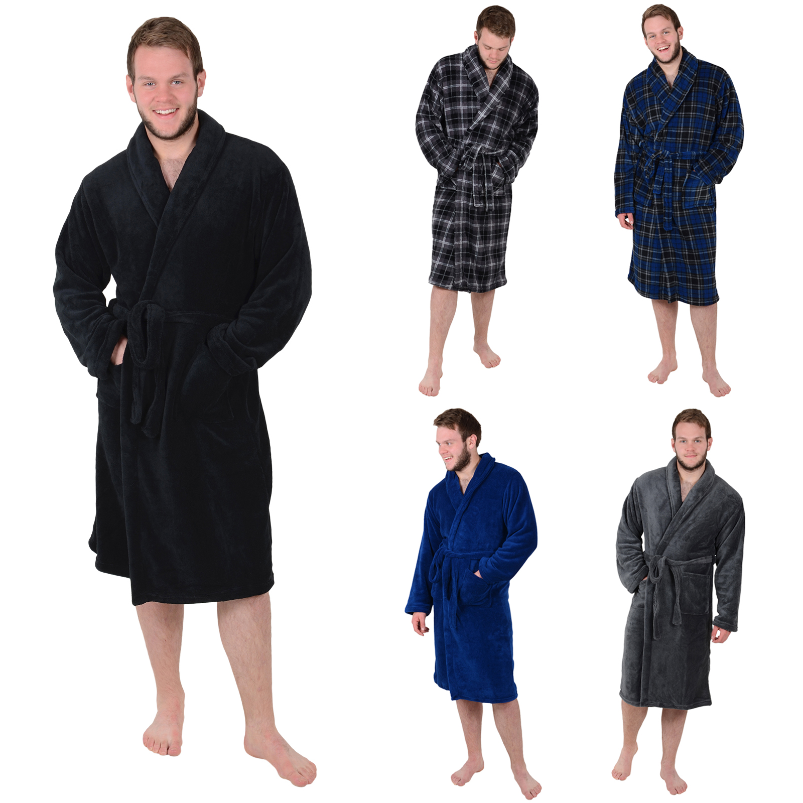 Short robes, long robes, robes that are made of soft material, or even rough material; no matter what preference you may have, there is a robe made just for you somewhere out there. 13 Best Robes For Men That Are Perfect For Around The House. Men's Waffle-Weave Kimono Robe.