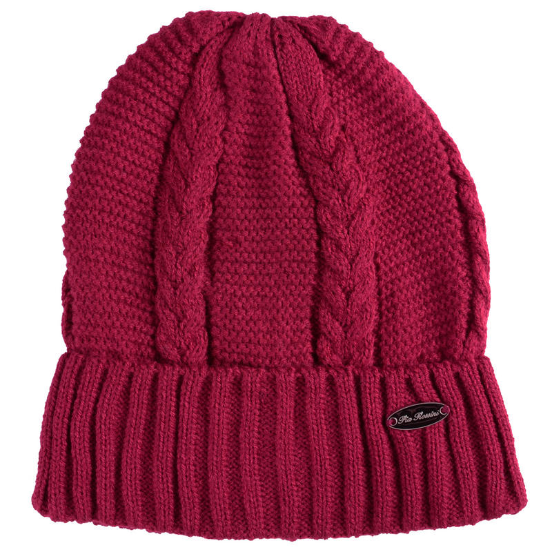 Ladies Rebekah Hat Cable Knit With Turned Up Ribbed Brim