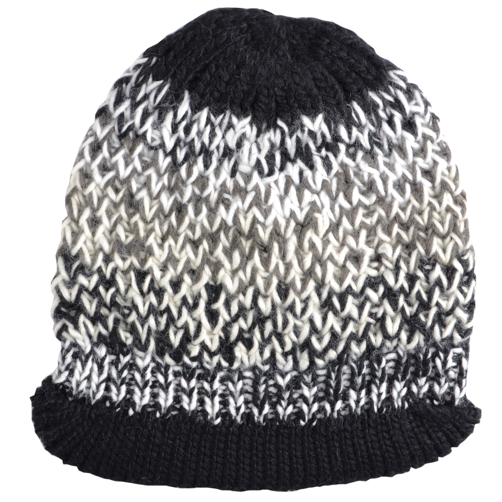 Ladies Ontario Chunky Knit Beanie Hat Rib Soft Peak Blue ...