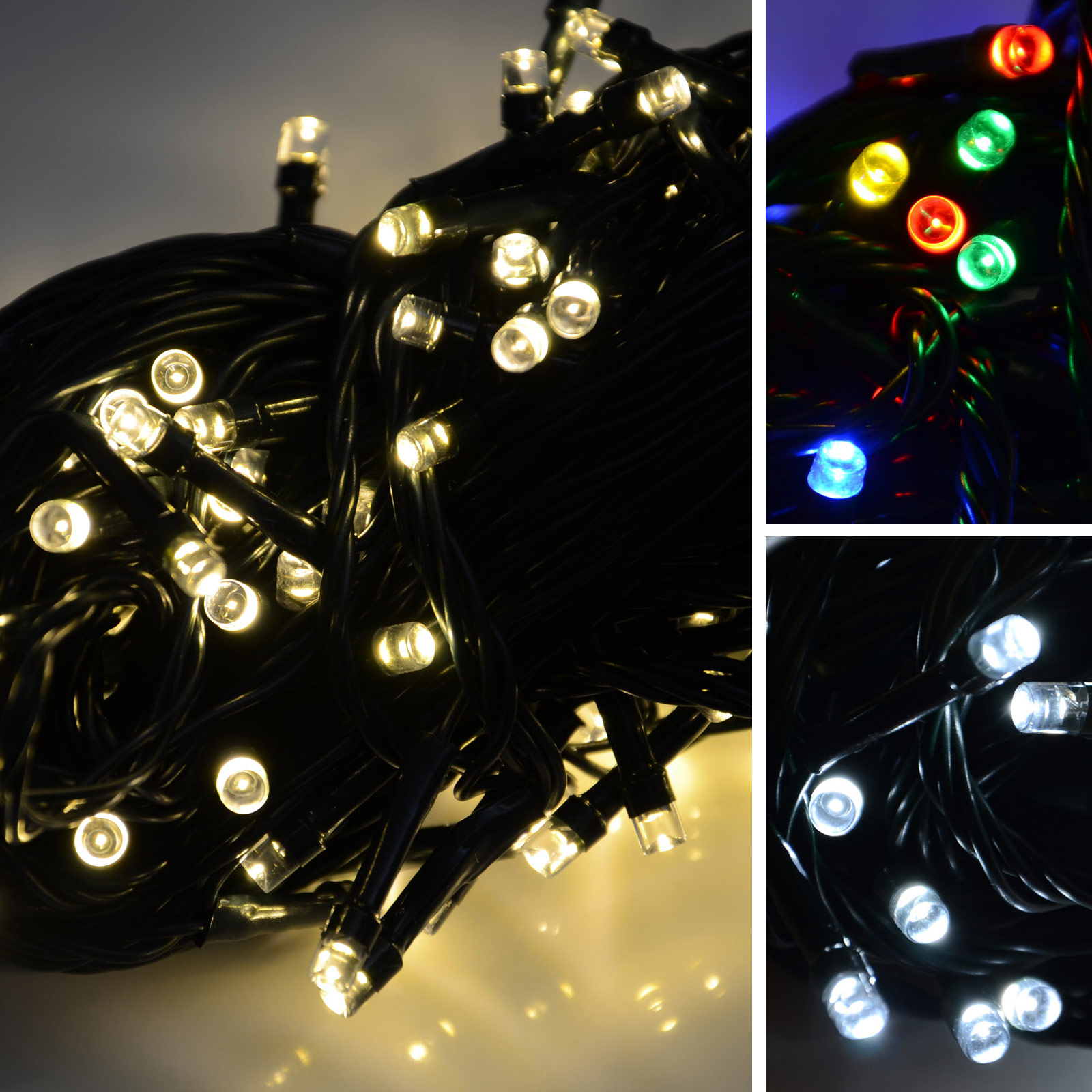 Battery-Operated-100-LED-Christmas-Xmas-Lights-Chain-With-8-Flashing-Settings