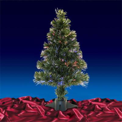 2ft 60cm Beautiful Green Christmas Tree With Multi Coloured Fibre Optics