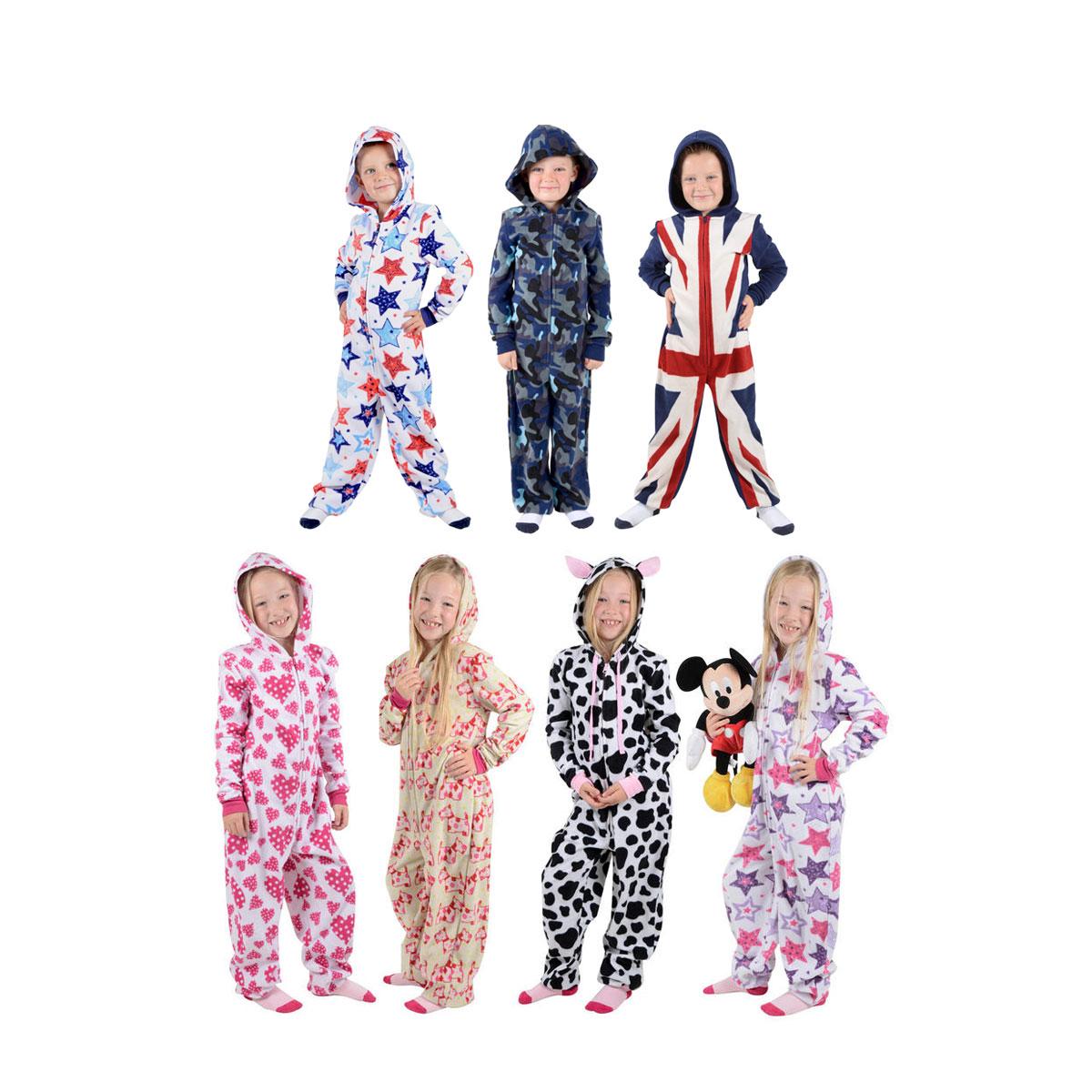 boys and girls all in one piece pyjamas jump sleep suit onesie pjs nightwear ebay. Black Bedroom Furniture Sets. Home Design Ideas