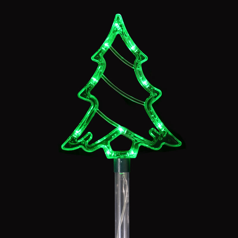 Set Of 4 Linked Crystal Trees Pathway Light Up Christmas