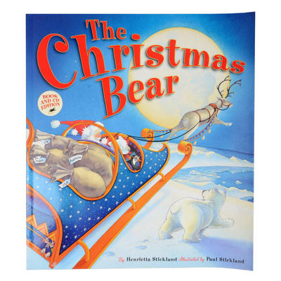 Childrens The Christmas Bear Book & CD Edition New