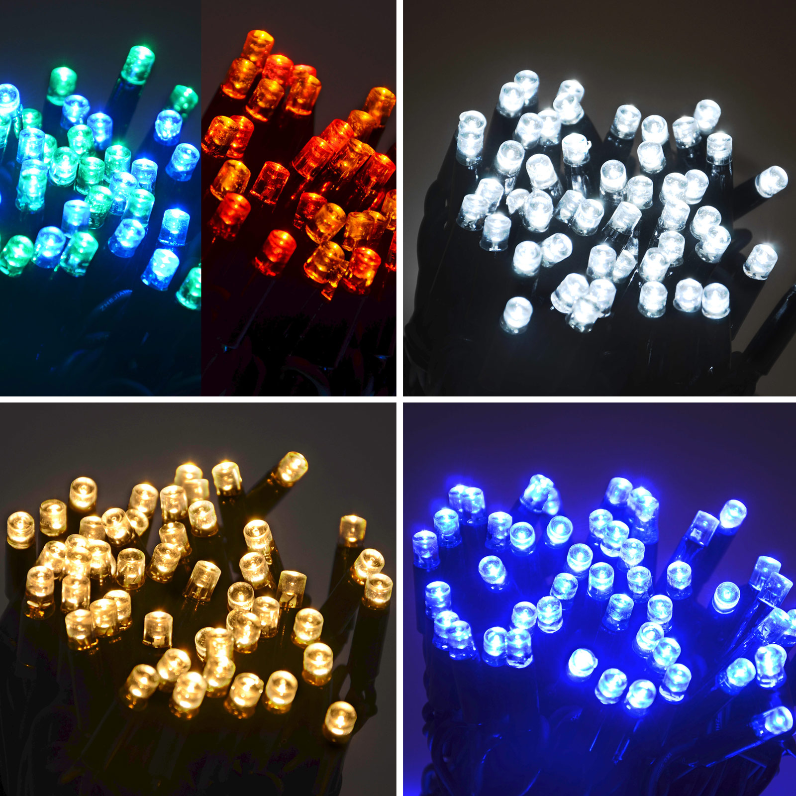 Mains String Garden Lights : 100 LED String Lights (10m) Connectable Waterproof Outdoor Christmas Fairy Mains eBay