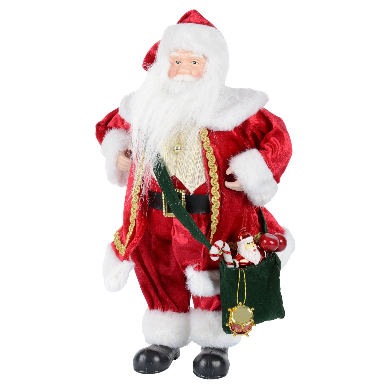 "Santa Claus Decorations Uk: 16"" Red Standing Santa Claus Christmas Decoration"