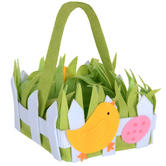 Chick Basket Easter Decoration Kids Egg Hunt Collection New