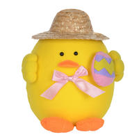 Easter Yellow Plush Chick Decoration Decor New